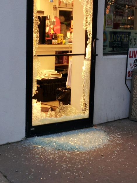 Door smashed in at People's Express South gas station in Shawano, WI
